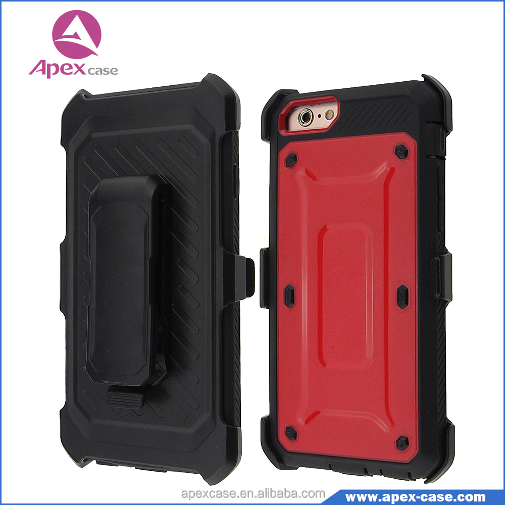 360-Degree 3 in 1 Slim Armor Case with Belt Swivel Clip Phone Case for Protector iphone 6 Case