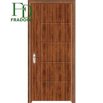 Custom Apartment Environmental Pvc Entry Wooden Door Solid Wood Modern  Front Doors - Buy Modern Front Doors,Pvc Door Production Line,Plywood Door  ...