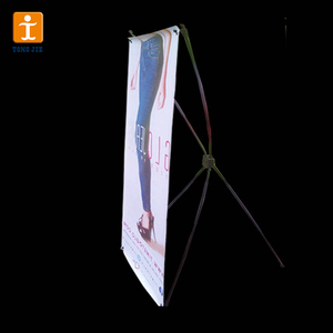 Advertising Campaign X Shape Banner, Shaft Display x Banner