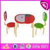 2015 Solid wood kids table and chairs for preschool,children wooden table and chair,Apple design wooden toy table chairs WO8G142