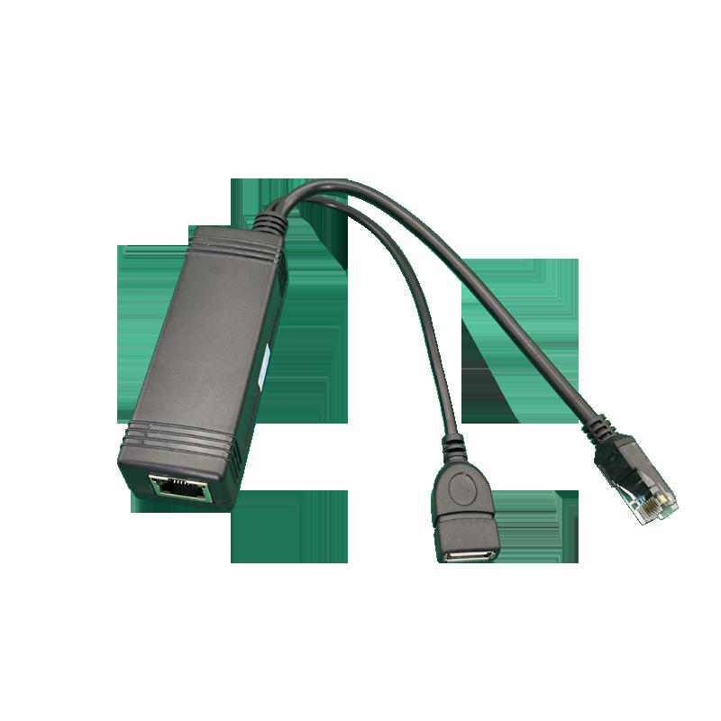Active PoE Splitter Power Over Ethernet 48V to 5V 2.4A Micro USB 4