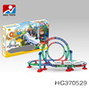 Plastic intelligence diy roller coaster toys electric slot track car toy HC370529