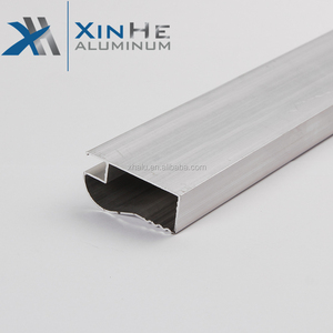 Xinhe Brand Iraq Alloy 6000 Series Temper T4-T6 6063 Industrial Kitchen Cabinet Clear / Milky Cover Corner Aluminum Profile