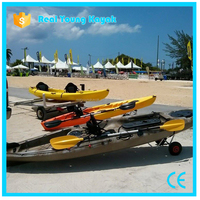 Rotomolding Single Pedal Kayak Fishing Boat with Rudder Control