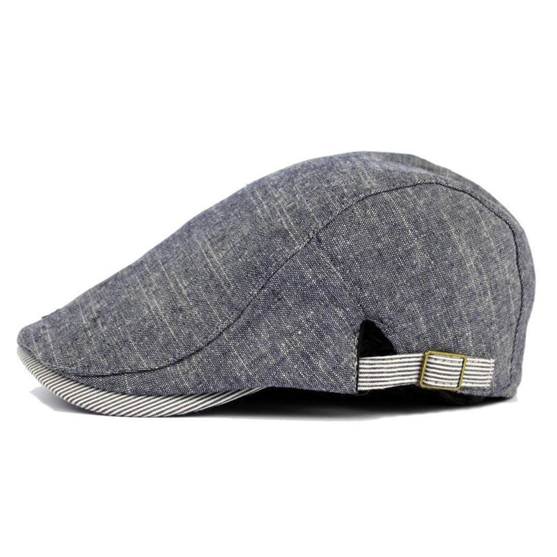 bd8be25654d Get Quotations · Simigree Mans Womens Cotton Flat newsboy Beret IVY Caps  Classic Tweed Retro Cabbie Hat