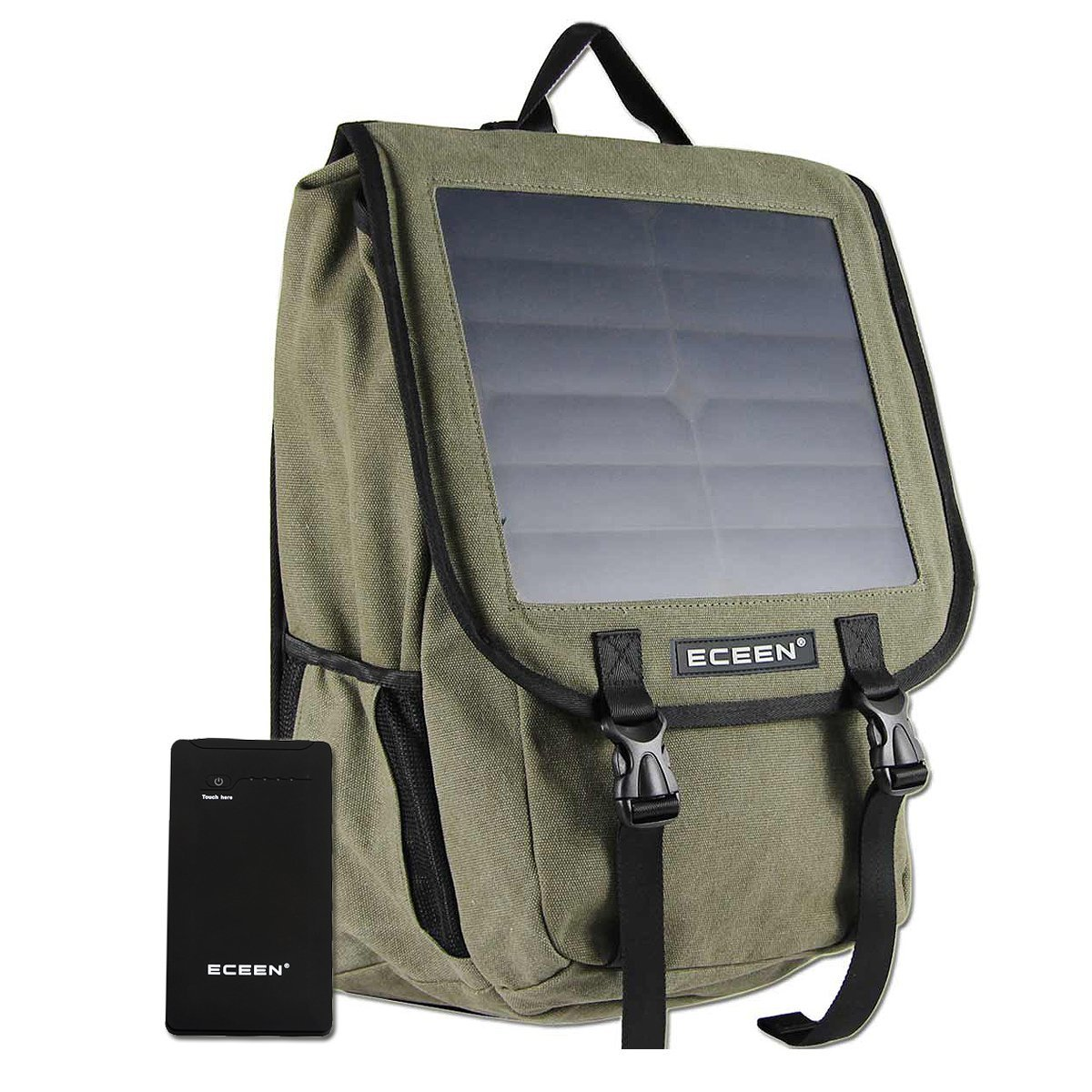 Bag Pack with Solar Panel Charger, Power Bank for Smart Phone, Speaker, Table