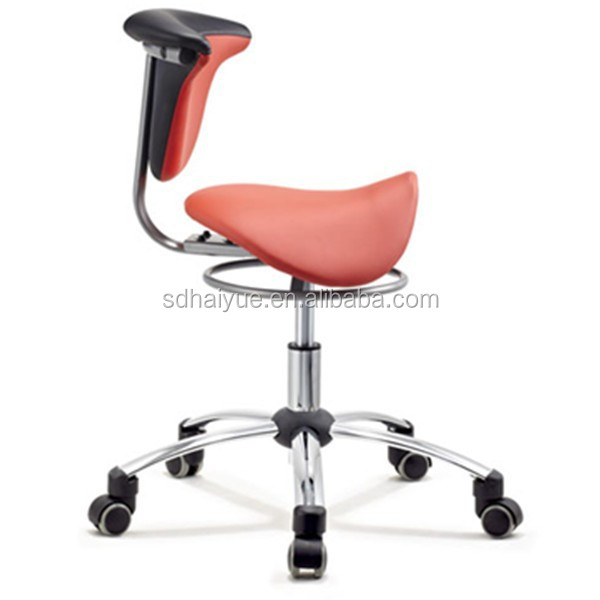 New Red PU Backrest Bar Stool Saddle, Saddle Bar Stool, Saddle Seat Stool