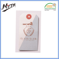 Custom round recycled kraft paper clothing hang tags