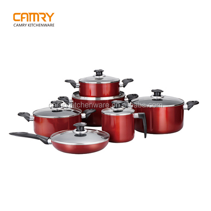 12pcs Aluminum non-stick indian cookware