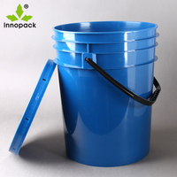20 liter/5 gallon round paint plastic bucket/pail/ drum with lid and handle