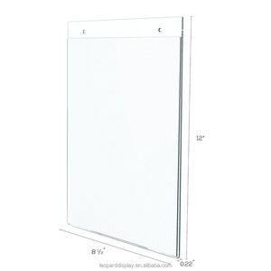 8.5x11/11x8.5 wall mounted acrylic sign holder