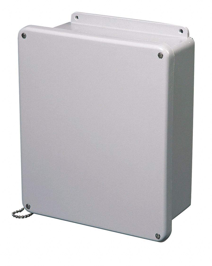 "8""H x 6""W x 4""D Non-Metallic Enclosure, Light Gray, Knockouts: No, Screws Closure Method"