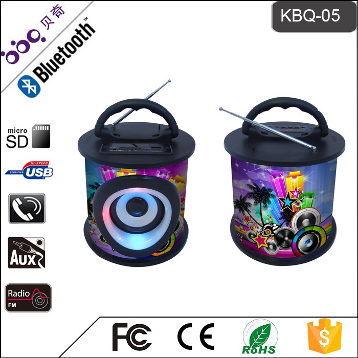Bluetooth music speaker professional audio equipment With 9 fashion colorful color designs