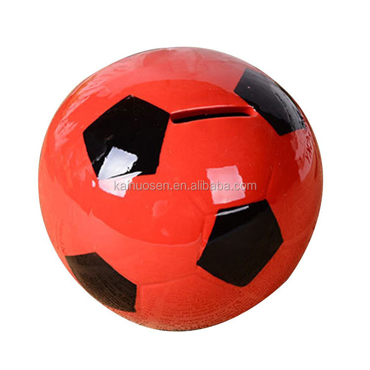 Soccer Coin Bank For Saving Money And Sports Decor~ Red