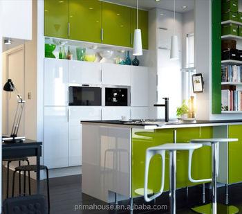 Mdf Kayu Kabinet Dapur Modular Dengan Hood Dan Microwave