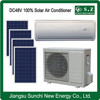 Off grid DC48V best competitive solar split air conditioner 9000BTU 12000BTU heating and air units