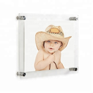 plastic large picture home magnetic frame wall mounted custom clear acrylic photo frame