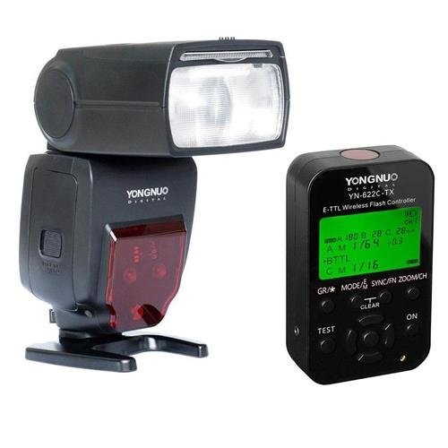 Yongnuo YN685 Wireless TTL Speedlite for Canon Cameras - Bundle With Yongnuo YN-622C-TX 7-Channel E-TTL Wireless Flash Controller
