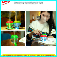 Strawberry humidifier with Light / Water purifier filter ultrasonic air humidifier