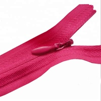 Red zippers tape conceal zip invisible zipper for wedding dress