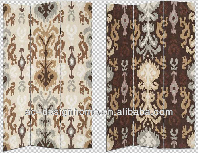 HOME DECOR PATTERN 3 PANEL CANVAS/WOODEN FOLDING SCREEN
