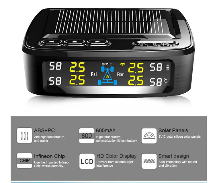 New auto diagnostic tool spy solar power tpms tire pressure monitoring system
