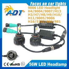 Car Front LED Lights 9006 HB4 LED Headlight Conversion Kit 56W 5000Lumen