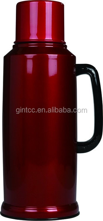 2.6L Classic Red Stainless Steel Liner Vacuum Flask Thermos Kettle