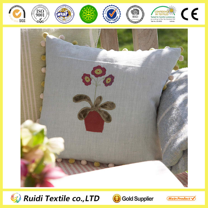 Silk And Velvet Embroidered 100% Cotton Cushion
