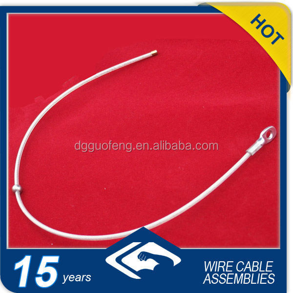 7*7 316 Galvanized/Ungalvanized lifting/hanging Steel Wire Rope with hook/loop