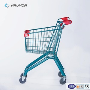 20L colorful small children shopping trolley/shopping carts