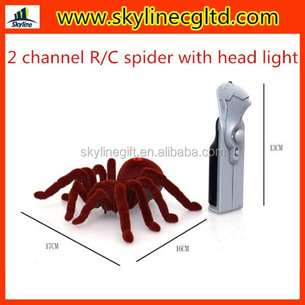 New arrival!RC animal toy,Simulation 2 channel R/C spider with head light