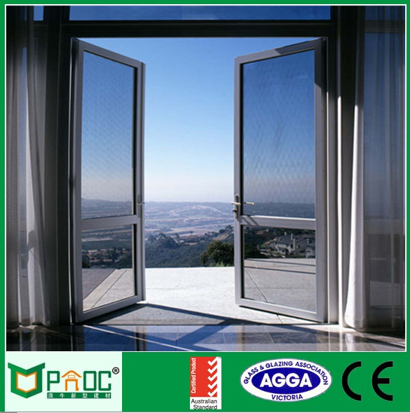 Aluminum alloy door frame with glass door