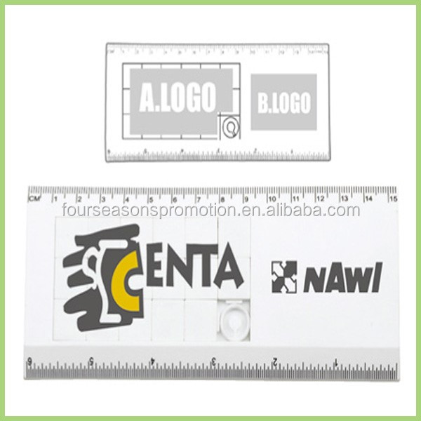 Custom 15cm Plastic Educational Puzzle Ruler