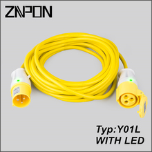 CEE 16A 3 wire 110V cable extension with LED light