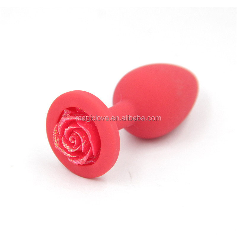 Silicone Rose Flower Anal Sex Toys For Women Man Butt Plug Stimulator Prostate Massager Beads Dildo Sex Toy