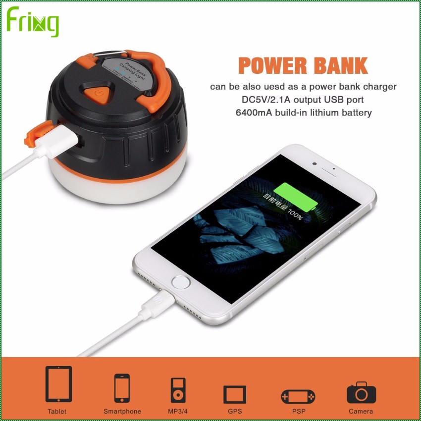 2017 Trending Products Rechargeable Camping Lantern with Super Magnet Power Bank