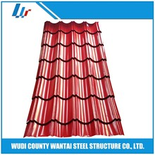 Color-coating corrugated roofing sheets in chain