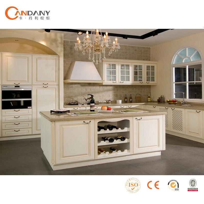 Elegante houten keuken kast, keuken muur tegelstickers-keuken ...