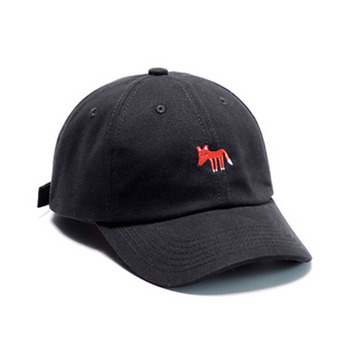 e1612c03ee05e New Fashion Women 100% cotton embroidered Baseball Cap Male unstructured  custom Foxes Embroidery Lady Dad