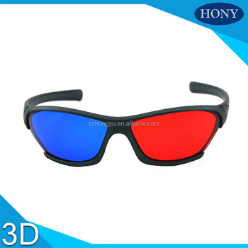 New cheap plastic 3D red blue red cyan glasses for laptop