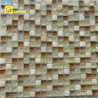 interior wall decorative stone and glass tile mosaic