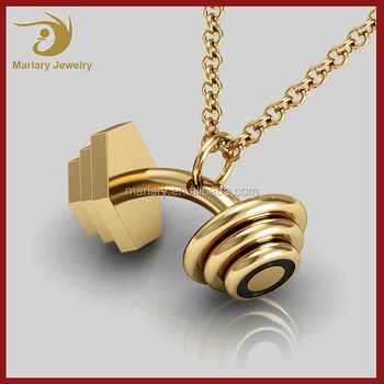 in women bodybuilding pendant jewelry necklaces necklace gym fitness dumbbell collar item weightlifting men sport barbell kettlebell from style
