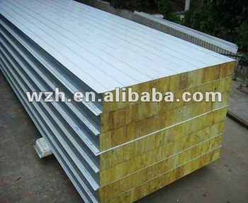 Composite insulation fire resistant rockwool wall panel for Buy sips panels