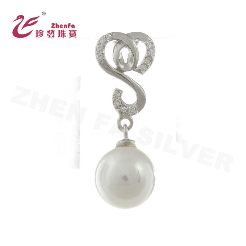 Wholesale 2018 Latest Fashion Jewelry 925 silver pendant pearl mounting necklace pendants