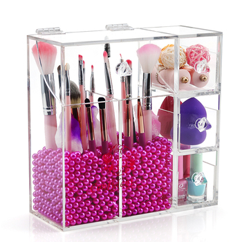 Luxury Acrylic Brush Holder Makeup Organizer Box Best Seller on Amazon,Walmart