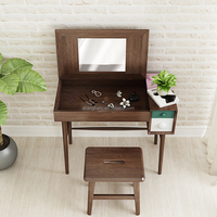 High quality solid wood furniture makeup vanity children dressing table