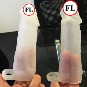 soft silicone penis sleeve for small size penis
