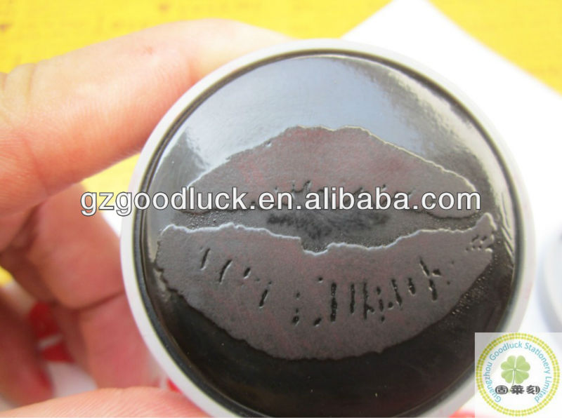 ABS Pre-Ink Stamp/Flash Stamp With Clear Kiss Mark