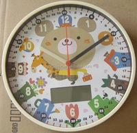 12 inch weather stataion watch shape wall clock